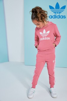 adidas Originals Little Kids Pink Trefoil Hoody and Jogger Set