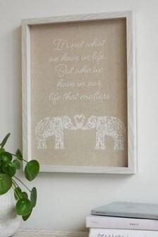 Image encadrée à motif éléphant