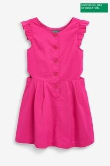 Benetton Kleid mit Rüschenärmeln