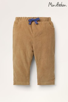 Boden Brown Jersey-Lined Cord Trousers