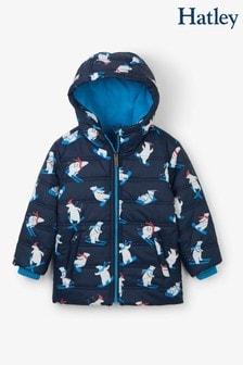 Hatley Winter Sports Wattierter Mantel mit Bärenmotiv