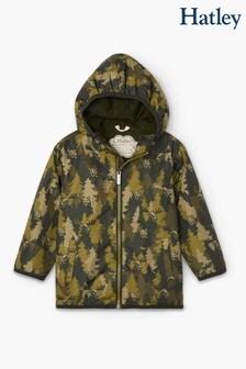 Hatley Green Forest Camo Microfiber Rain Jacket