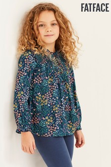 FatFace Blue Butterfly Meadow Blouse