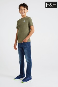 F&F Kids Blue Brush Lined Jeans