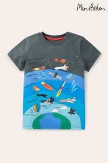 Boden Grey Graphic Layers T-Shirt