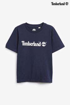 Granatowa koszulka z logo Timberland®