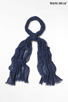 White Stuff Blue Skinny Dreaming Away Scarf