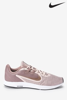 Nike Run Pink/Bronze Downshifter 9 Trainers