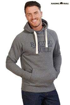Raging Bull Grey Raglan Pullover Hoody