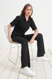 מכנסיים עם שוליים מתרחבים מ-EcoVero™ בר קיימא