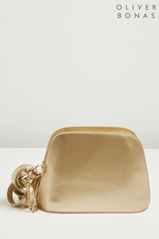 Oliver Bonas Gold Arlo Golden Cross Body Bag