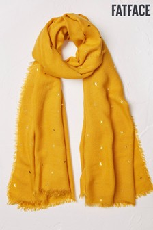 FatFace Yellow Star And Moon Scarf