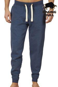 מכנסי טרנינג עם מנז'טים בצבע כחול שלRaging Bull
