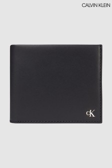 Calvin Klein Black Leather Bifold Wallet