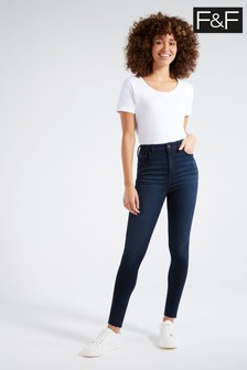 F&F Contour Blue Black Jeans