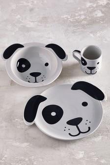Dog Children's 3 Piece Ceramic Dinner Set