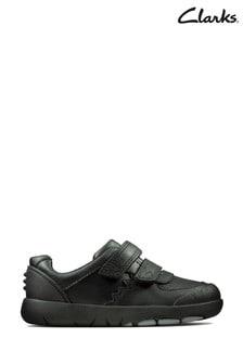 Clarks Black Rex Pace T Shoes