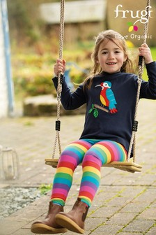 Frugi Pink GOTS Organic Super Stretch Leggings