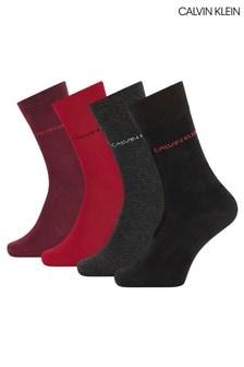 Calvin Klein Palmer 4 Pack Socks Gift Box