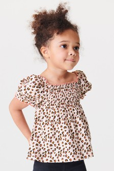 Shirred Puff Sleeve Top (3mths-7yrs)