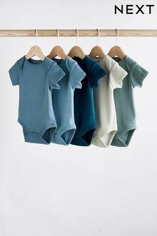 5 Pack Short Sleeve Bodysuits (0mths-3yrs) (483089)   $18 - $21