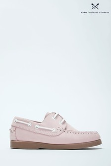 Crew Clothing Pink Deck Shoes
