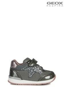 Geox RishonBaby-Schuhe für Mädchen, Dunkelgrau