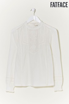 FatFace Natural Tori Embroidered Blouse