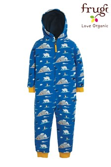 Frugi Organic All-In-One In Polar Bear Print