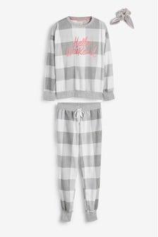 Cosy Pyjamas With Scrunchie
