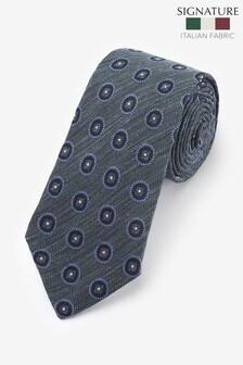 עניבה בדוגמה גיאומטרית 'Made In Italy' של Signature