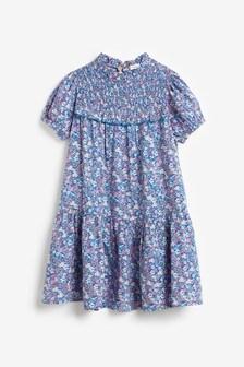 فستان كشكشة مطبوع (3-16 سنة)