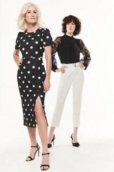 فستان أسود منقط منM&Co