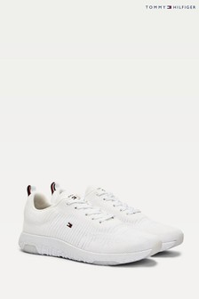 Tommy Hilfiger White Corporate Knit Runner Trainers