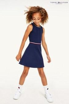 Tommy Hilfiger Mädchen Kleid, Marineblau