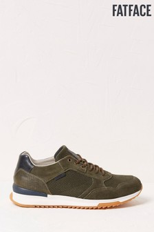 FatFace Green Leather Trainers