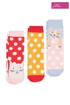 Joules Cream Brilliant Bamboo Socks Three Pack