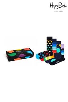 Happy Socks Mens Classic 4 Pack Gift Box