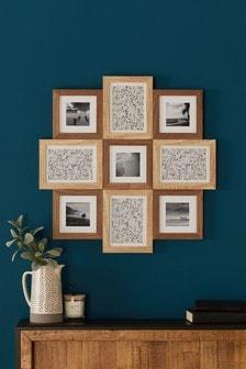 Brown Wood Effect Multi Aperture Photo Frame