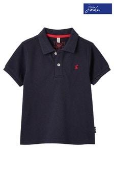 Niebieska koszulka polo Joules Woody Mini Me