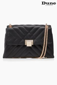 Dune London Black Dorchester Small Quilted Shoulder Bag