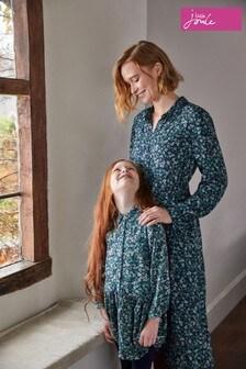 Joules Blue Amelia Woven Shirt Dress