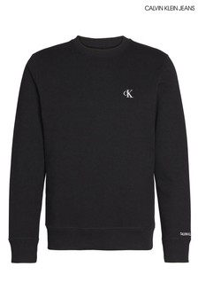 סווטשירטבייסיק שחור עם לוגושלCalvin Klein Jeans