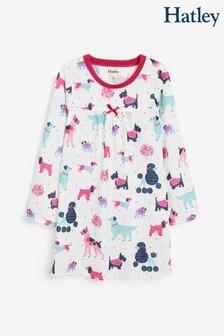 Hatley Langärmeliges Nachthemd mit Hündchen, bunt