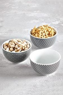 Sloane Set of 3 Dip Bowls Serveware