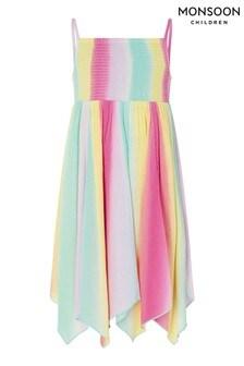 Monsoon Kleid aus Lenzing™ EcoVero™ in Knüpfbatik mit Regenbogendesign, mehrfarbig