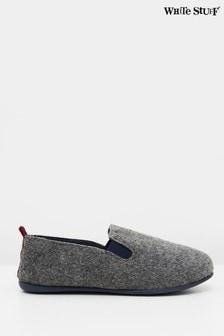 White Stuff Grey Mens Lounge Slippers