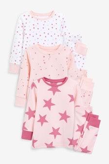 3 Pack Star Snuggle Pyjamas (9mths-16yrs)