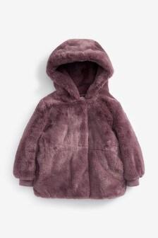 Приталенная куртка из искусственного меха (12 мес. - 7 лет)