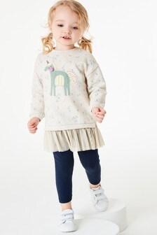 チュチュ ヘム ユニコーン スウェットシャツ (3 か月~7 歳)